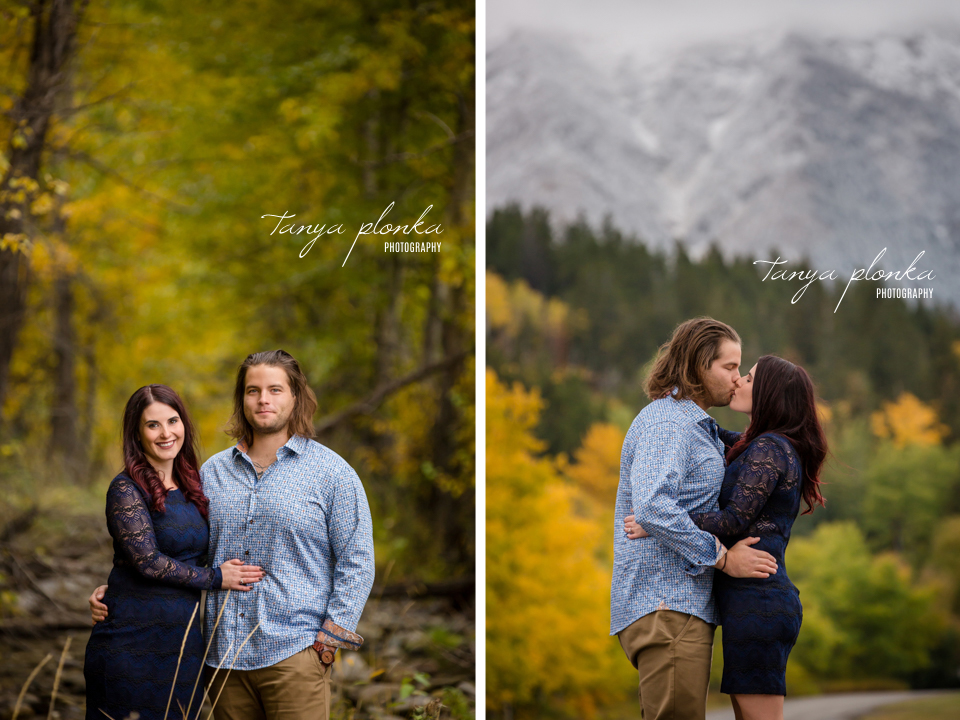 Crowsnest Pass fall engagement photography