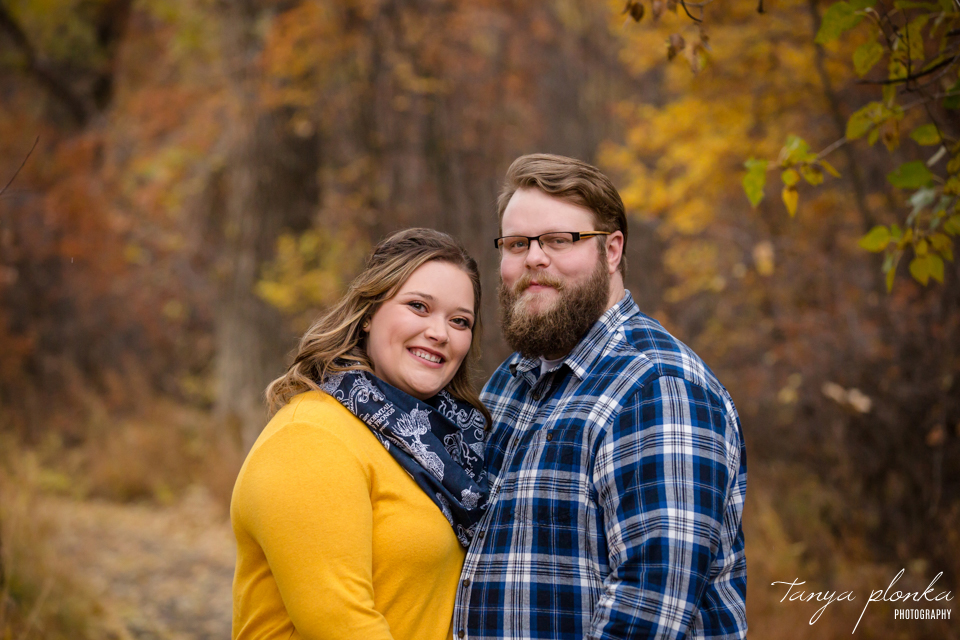 Lethbridge autumn engagement photography