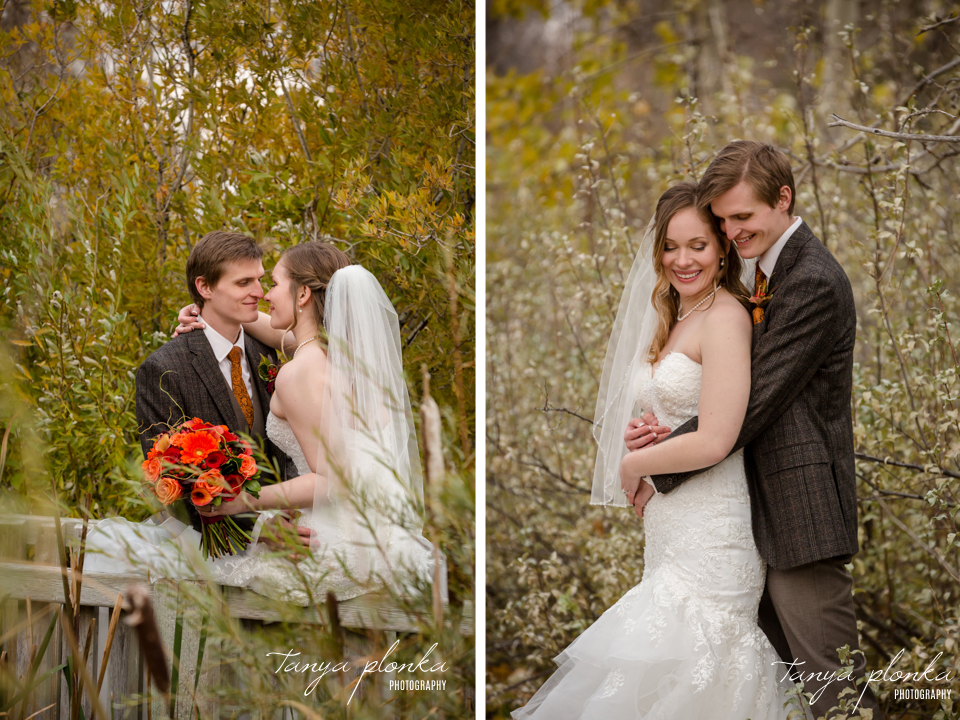 Cassie and Christian, Lethbridge Paradise Canyon Fall Wedding