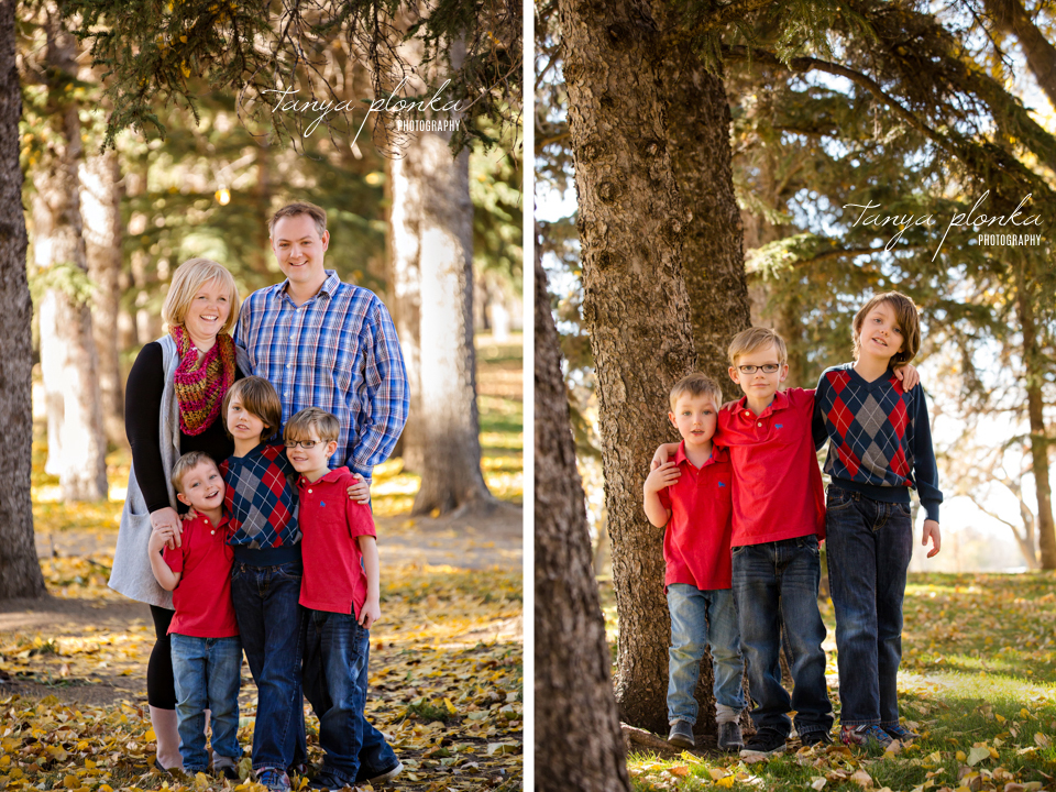 Henderson Lake extended family autumn photography session
