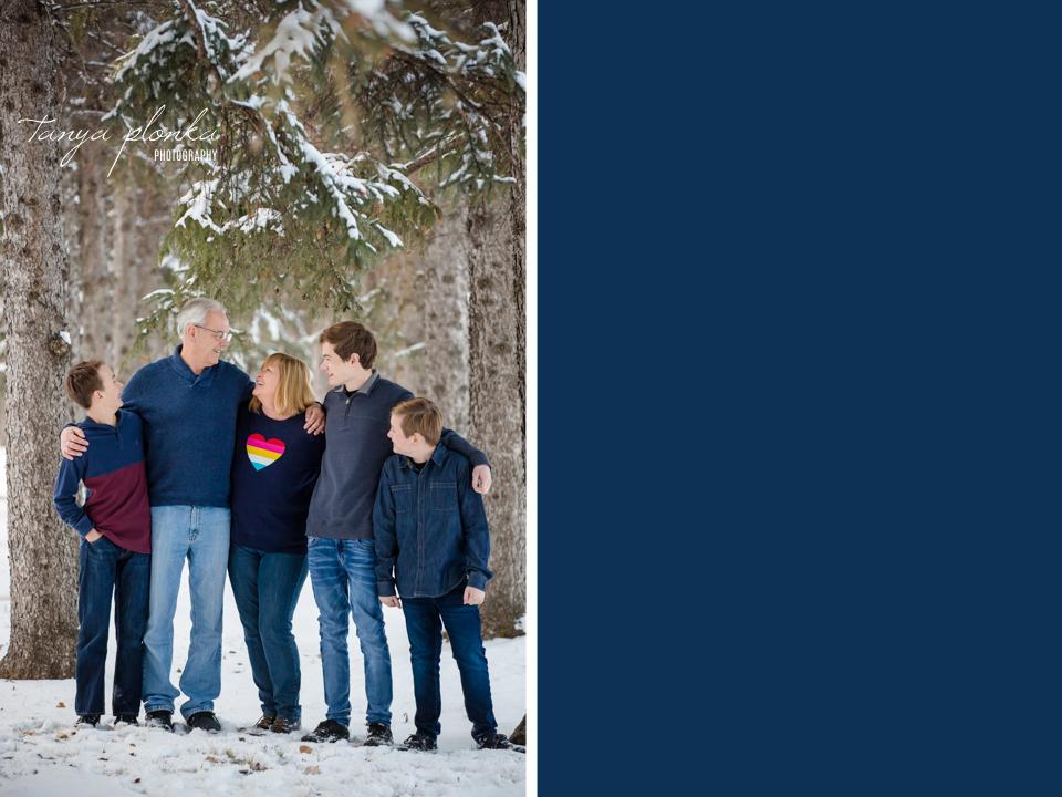 Henderson Lake winter grandchildren photos