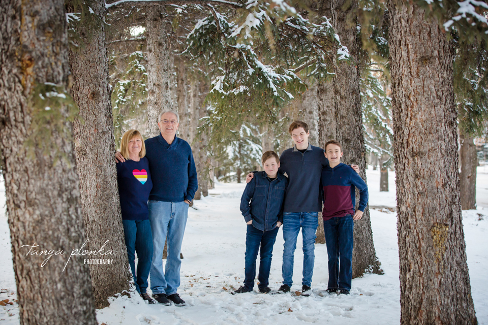 Henderson Lake winter grandchildren photos