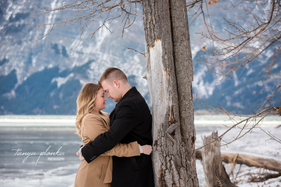 Waterton winter couples photos