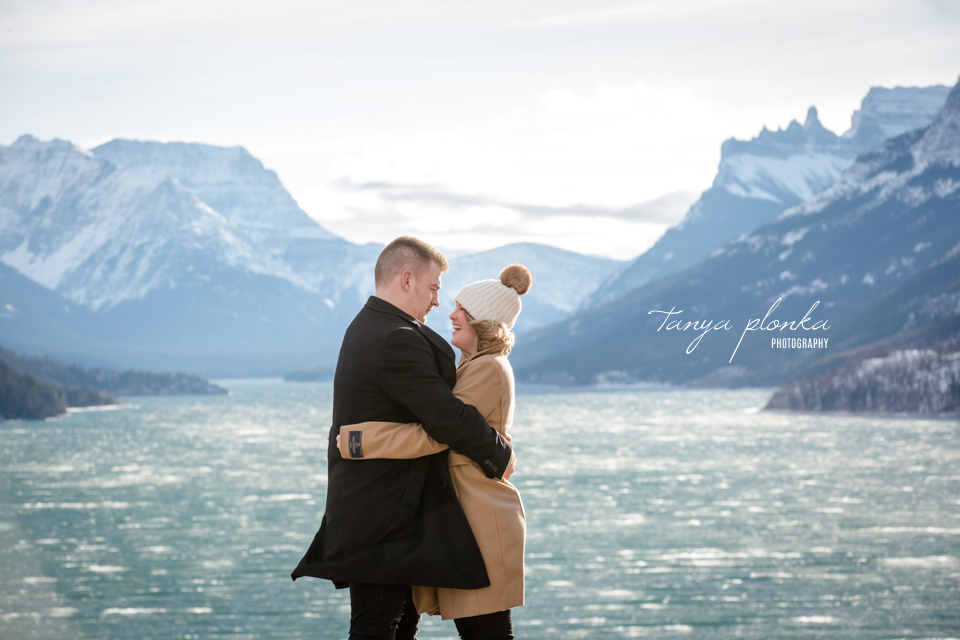 Waterton winter anniversary photos