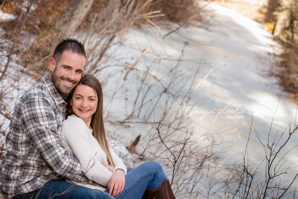 Crowsnest Pass winter engagement photos