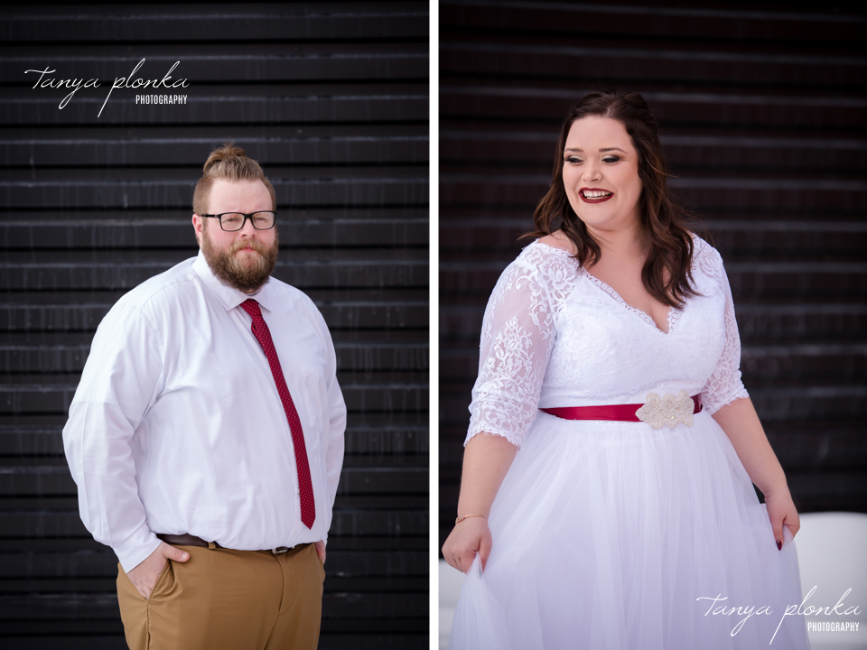 Jordanna & Deiter, Galt Museum Winter Wedding Photos