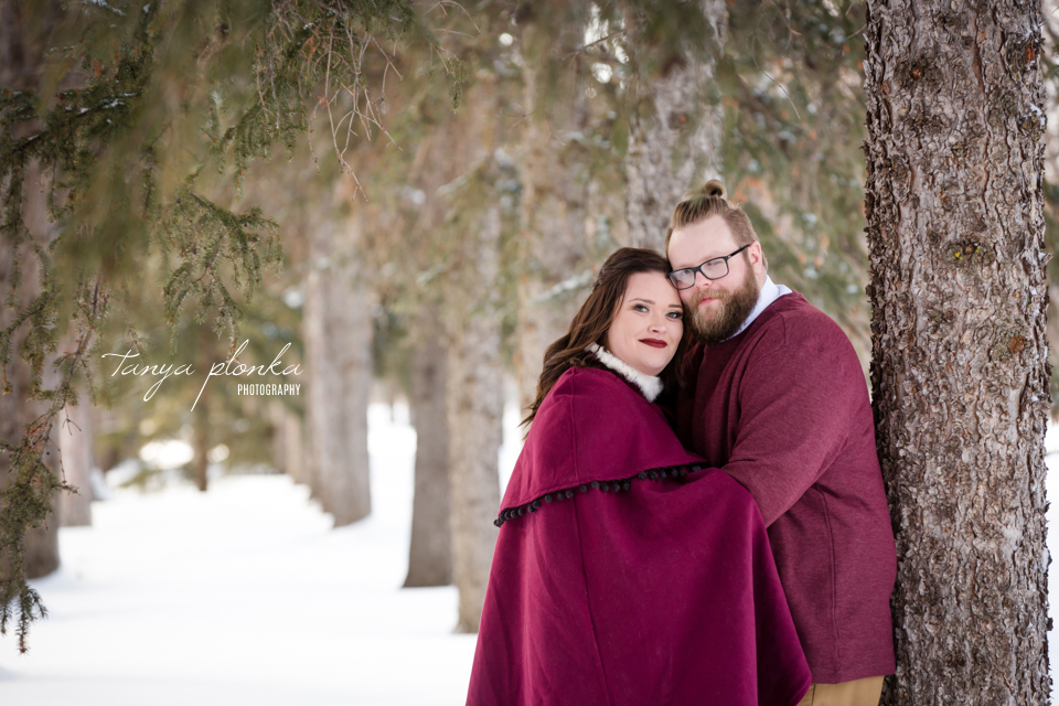 Jordanna & Deiter, Henderson Lake Winter Wedding Photos