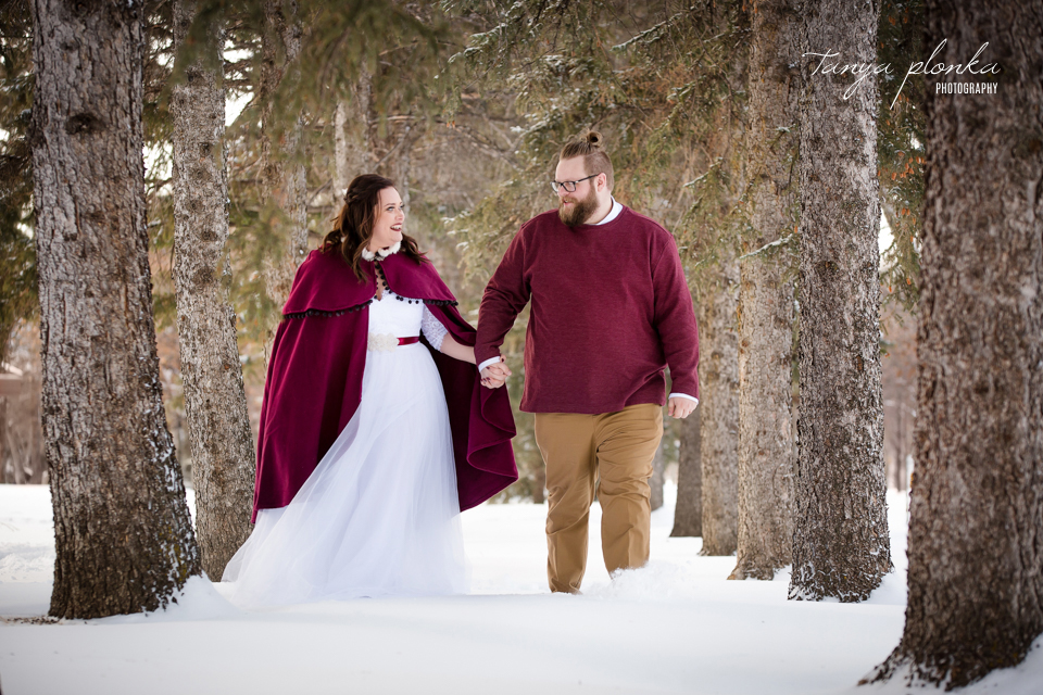 Jordanna & Deiter, Henderson Lake Winter Wedding