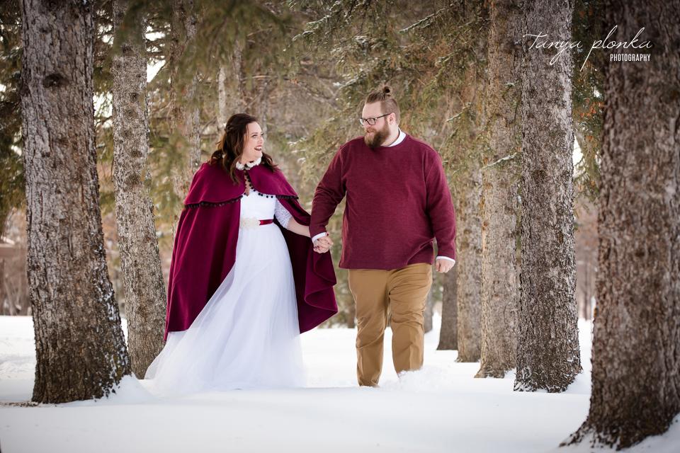 Jordanna & Deiter, Henderson Lake Winter Wedding