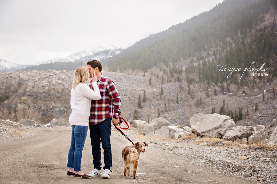 adorable mountain couples photography