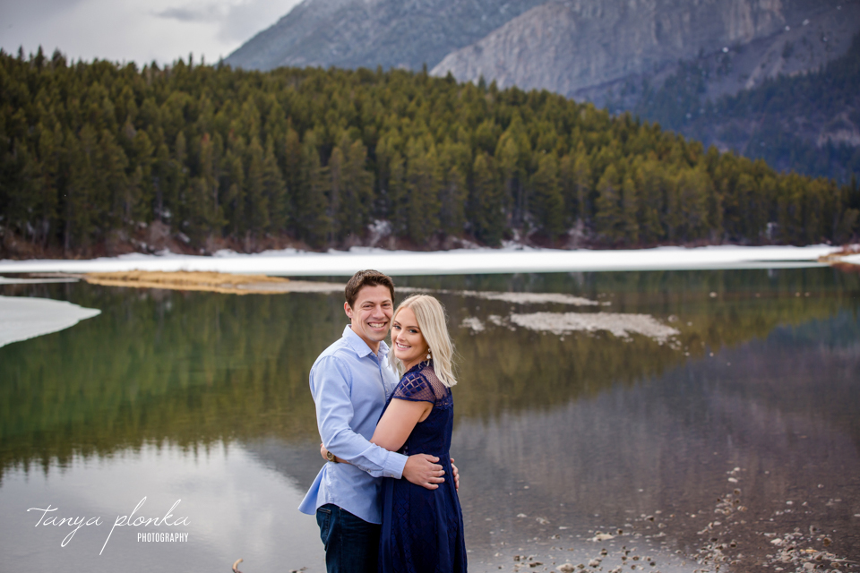Crowsnest Lake engagement session