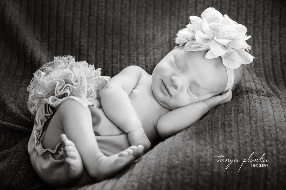 pink floral newborn session