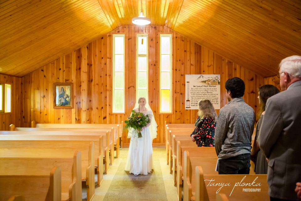 Isabelle and Andrew, Waterton Catholic wedding ceremony
