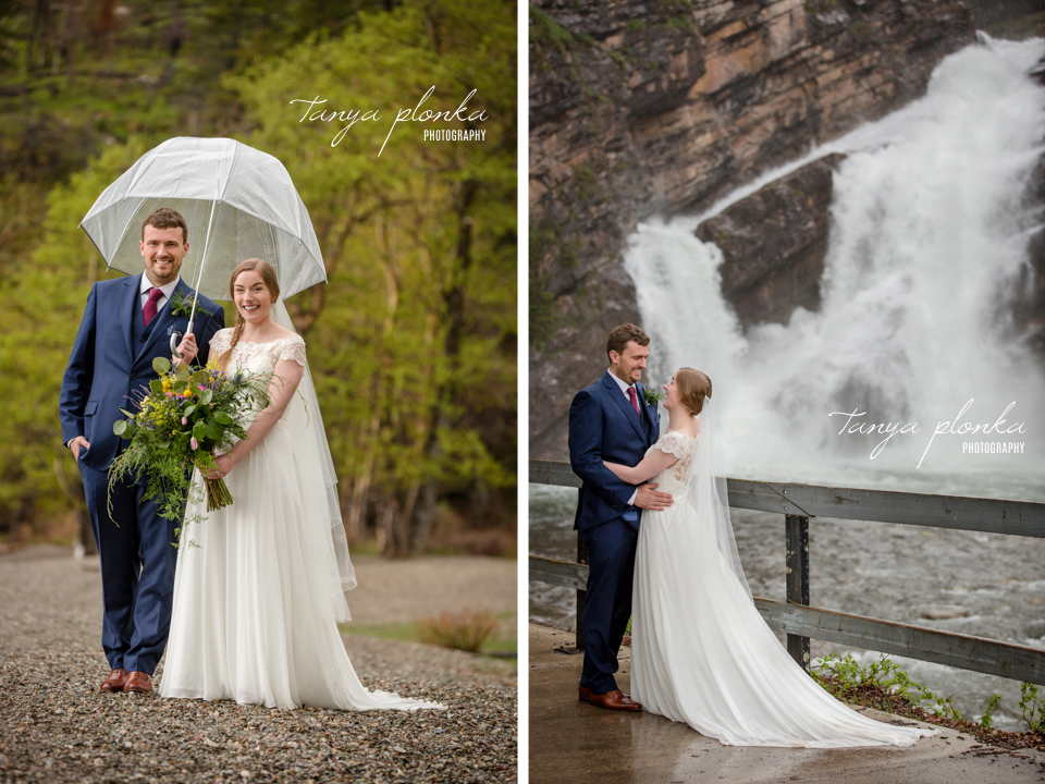 Isabelle and Andrew, Waterton Cameron Falls wedding photos