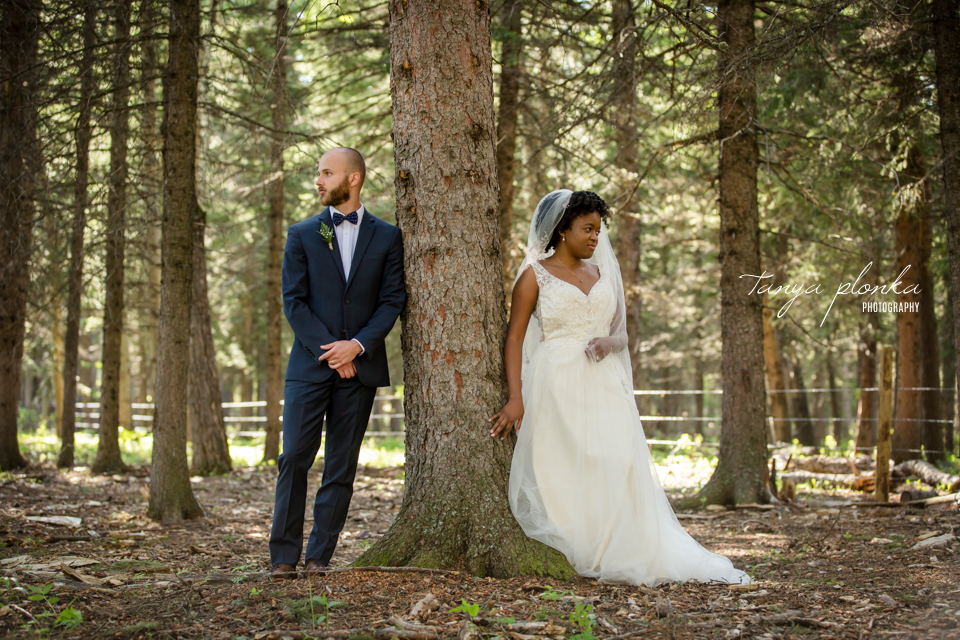 Michelle and Pieter, Southern Alberta forest wedding photos