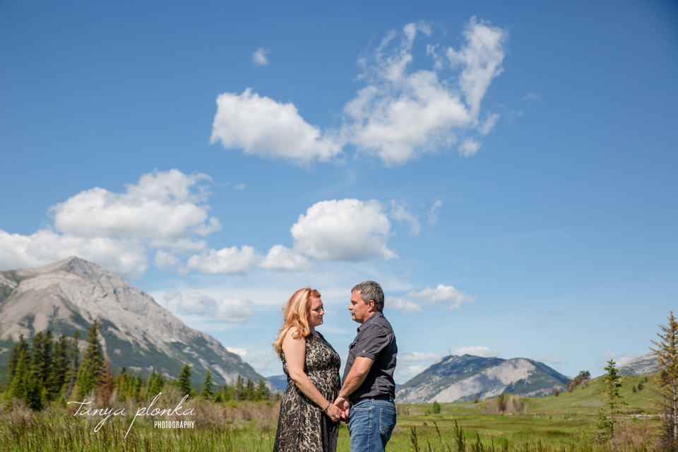Crowsnest Pass rustic engagement photos