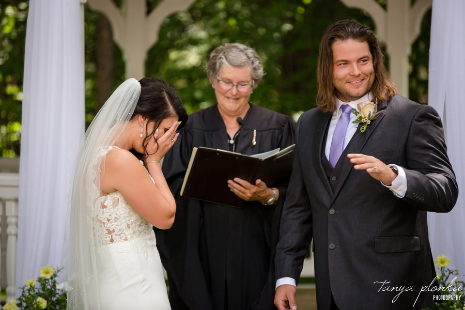 Lindsay and Terry, Norland outdoor wedding ceremony