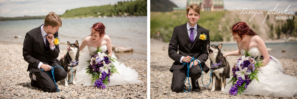 Kendal and Mike, Waterton wedding photography