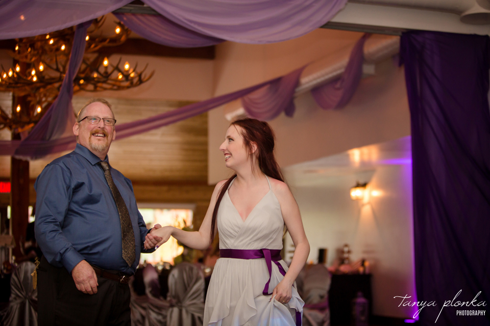 Kendal and Mike, Waterton Bayshore Inn wedding reception