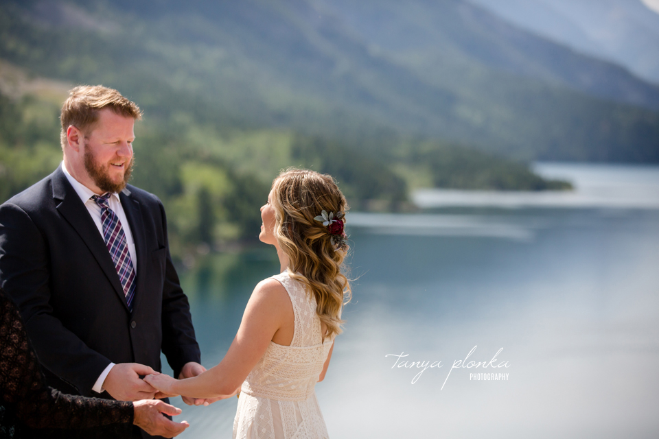 Catherine and Griffin, Waterton Prince of Wales wedding