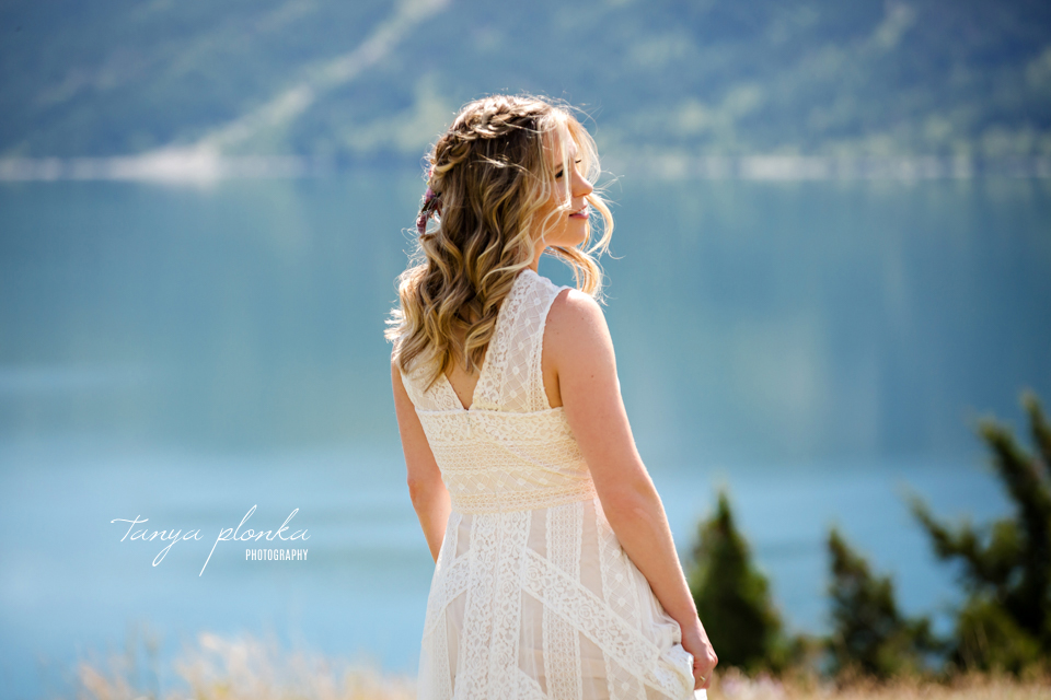 Catherine and Griffin, Waterton bridal portraits