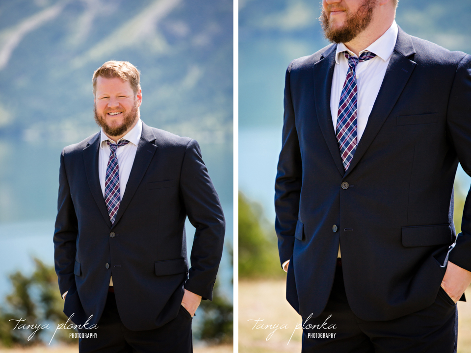 Catherine and Griffin, Waterton groom portraits