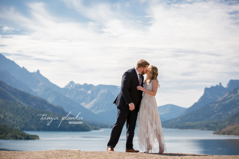 Catherine and Griffin, Waterton wedding elopement