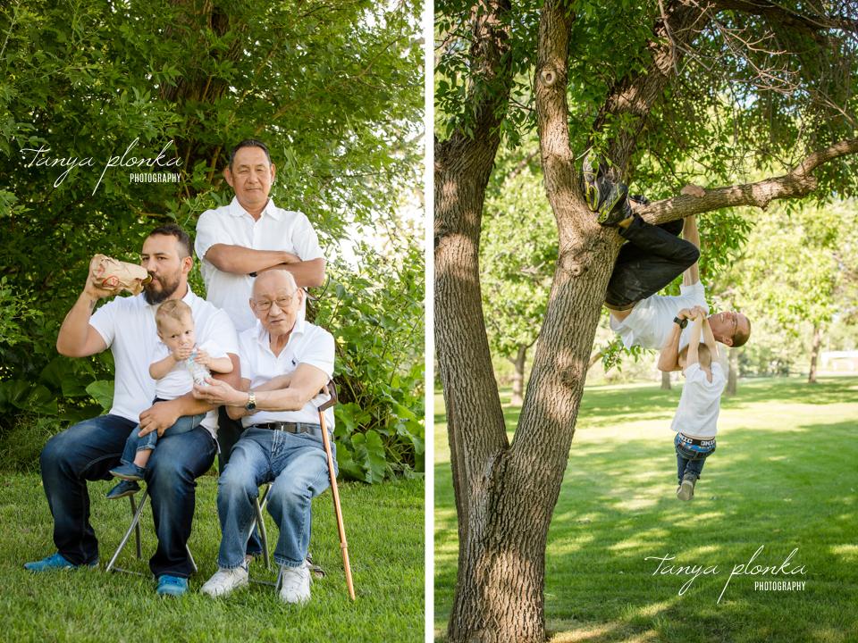 Lethbridge four generation family photos
