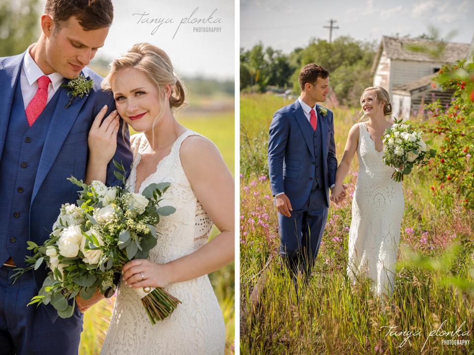 Roxy and Josh, rural Alberta wedding photography