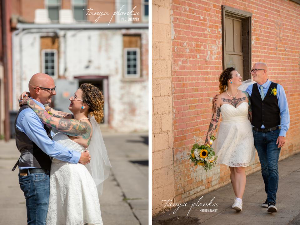 Amberlea & Kevin, downtown Lethbridge wedding photography