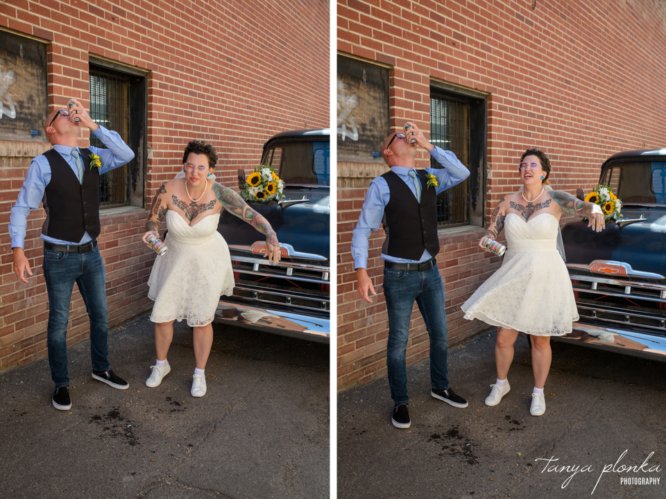 Amberlea & Kevin, downtown Lethbridge wedding photography