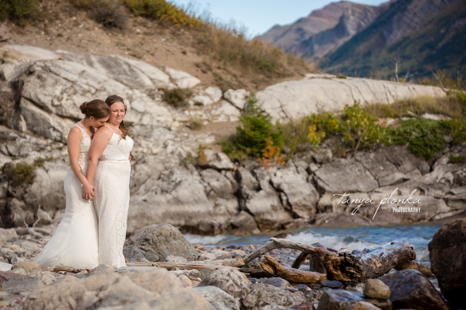 Cassie and Chelsea, Intimate Waterton Wedding Ceremony