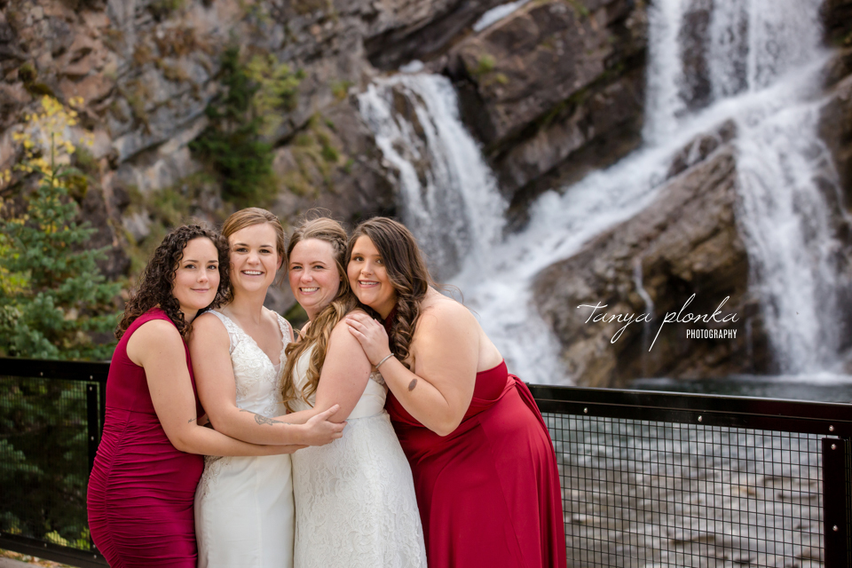 Cassie and Chelsea, Cameron Falls wedding photos