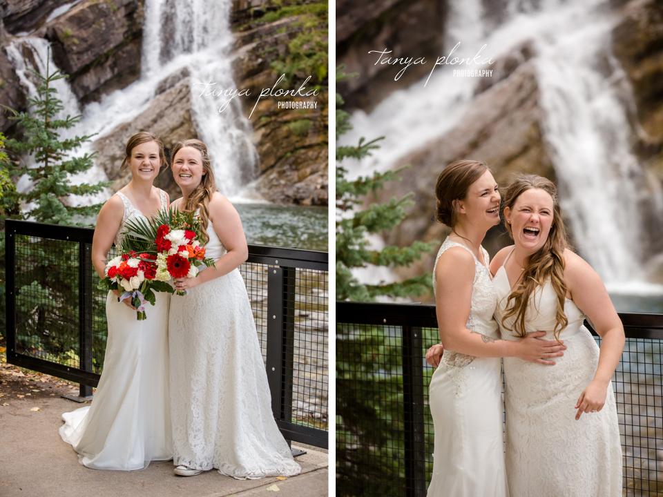 Cassie and Chelsea, Cameron Falls wedding photos