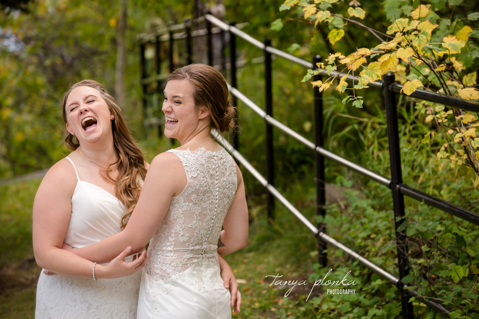 Cassie and Chelsea, Waterton same sex wedding photography