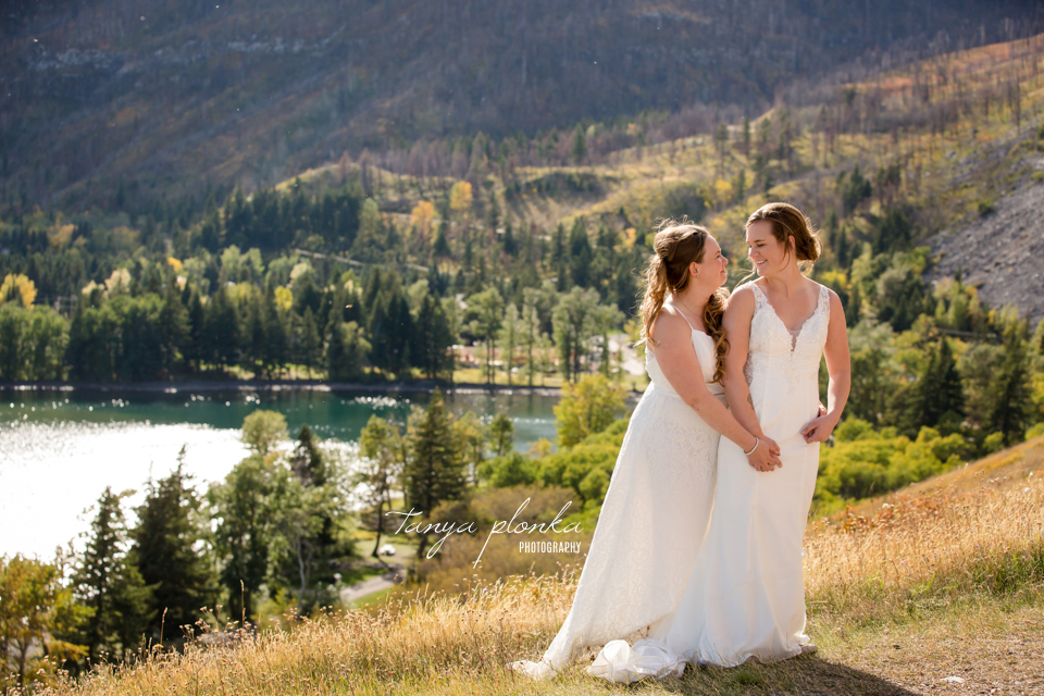 Cassie and Chelsea, Waterton wedding photography
