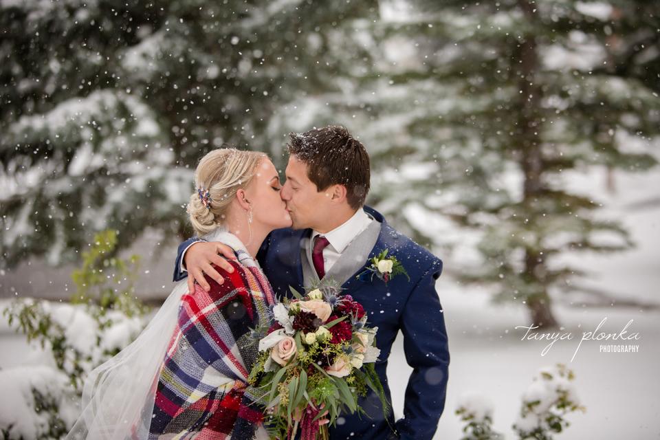 Brietta and Samuel, Pincher Creek snowy fall wedding