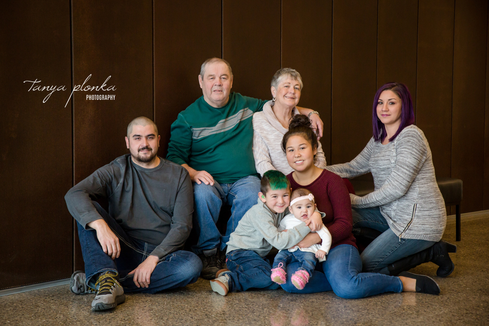 University of Lethbridge indoor grandparents photo session