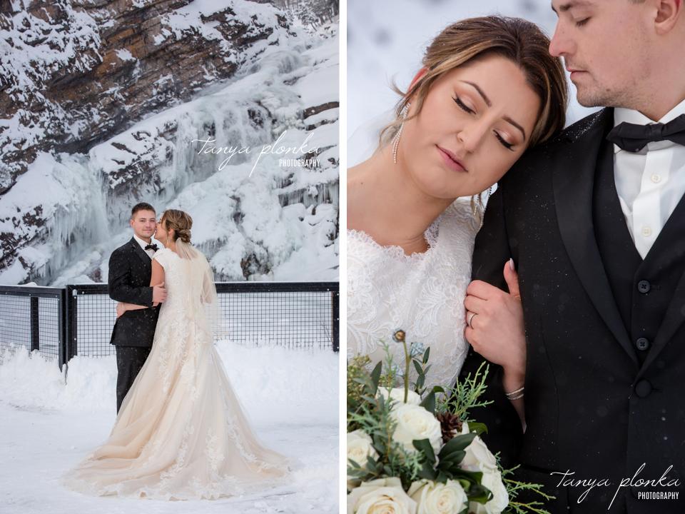 Candace and Davis, Cameron Falls wedding photography