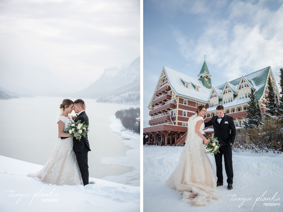 Candace and Davis, Prince of Wales winter wedding photography