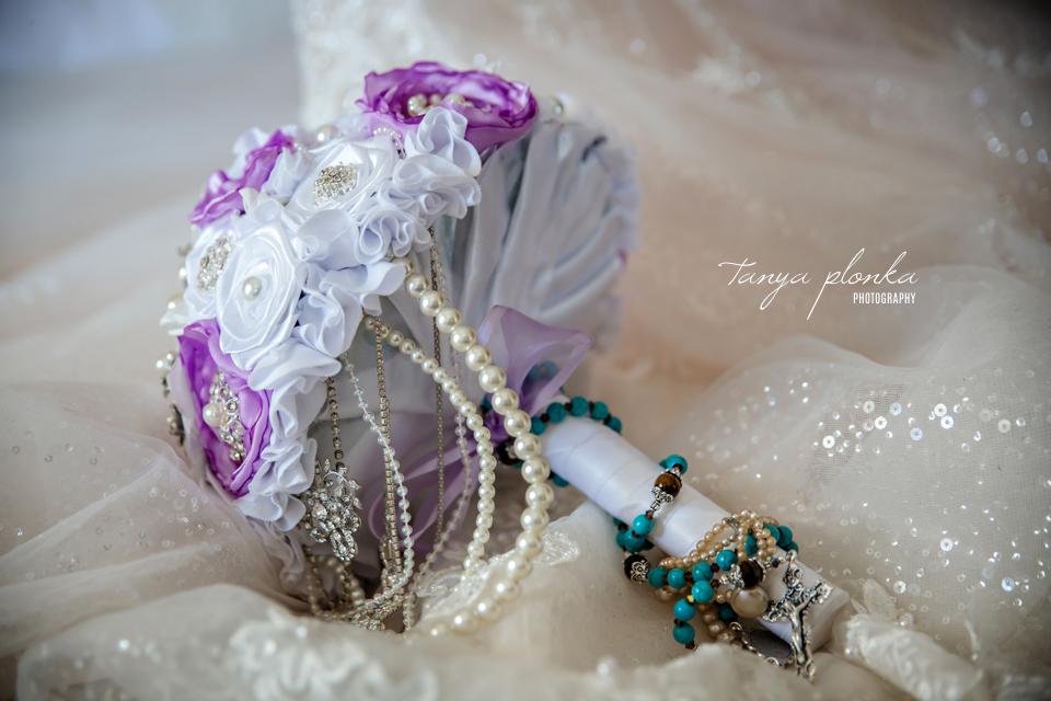 Kaylene & James, Lethbridge wedding artificial bouquet