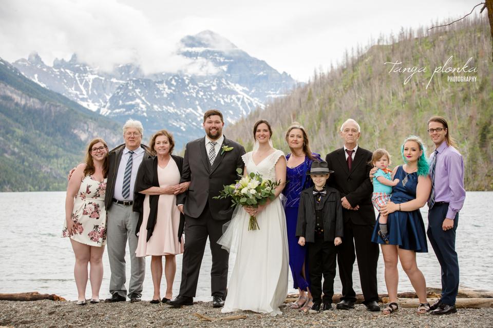 Natasha & Jeremy, Alberta national park small wedding