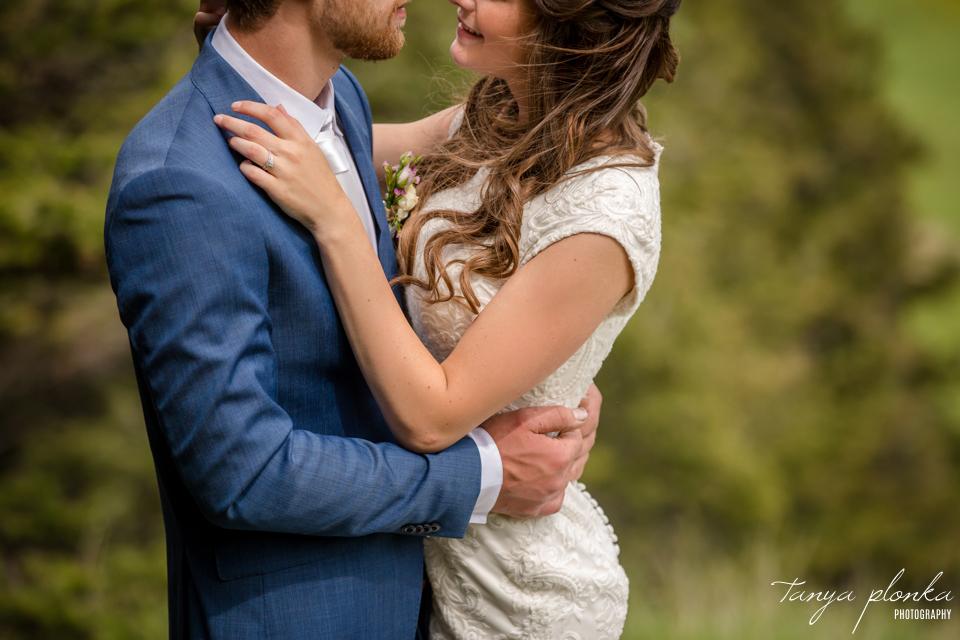 Julie & Nathan, Claresholm spring wedding portraits