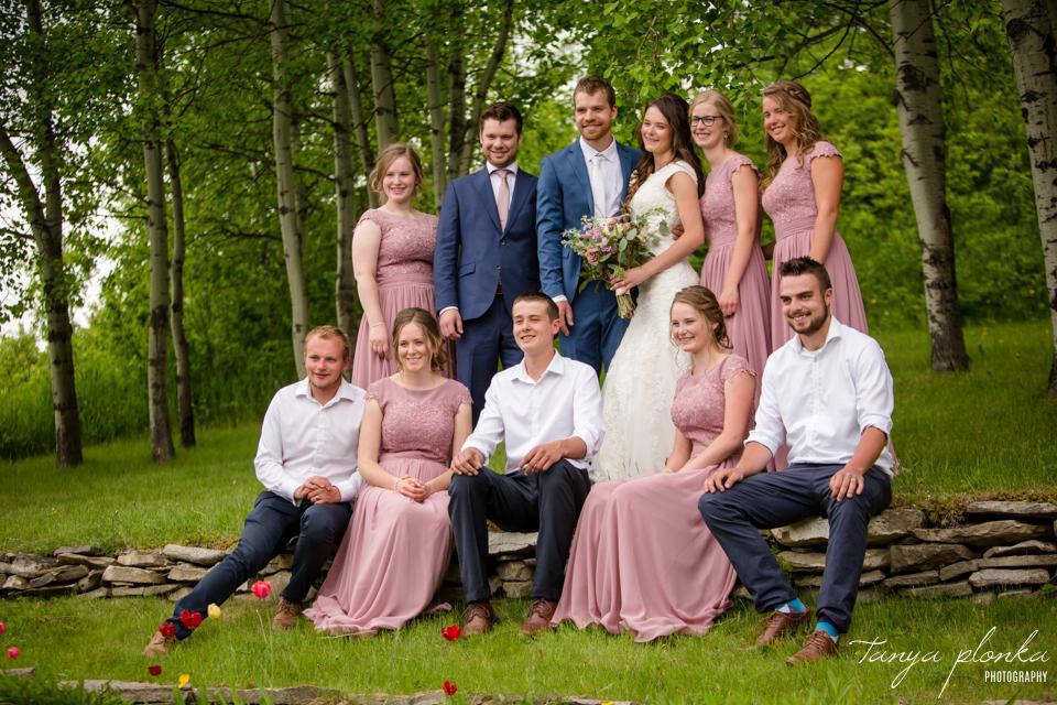 Julie & Nathan, Claresholm spring wedding photos