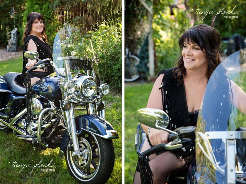 Harley Davidson boudoir photography