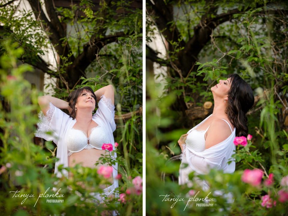 outdoor garden boudoir photos