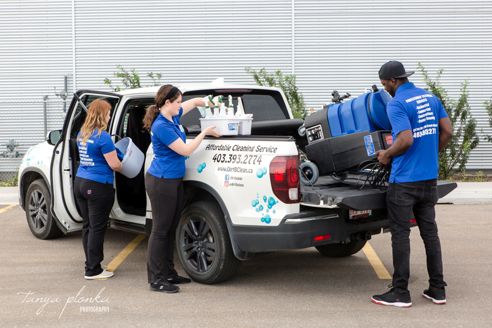 Lethbridge cleaning service staff photos