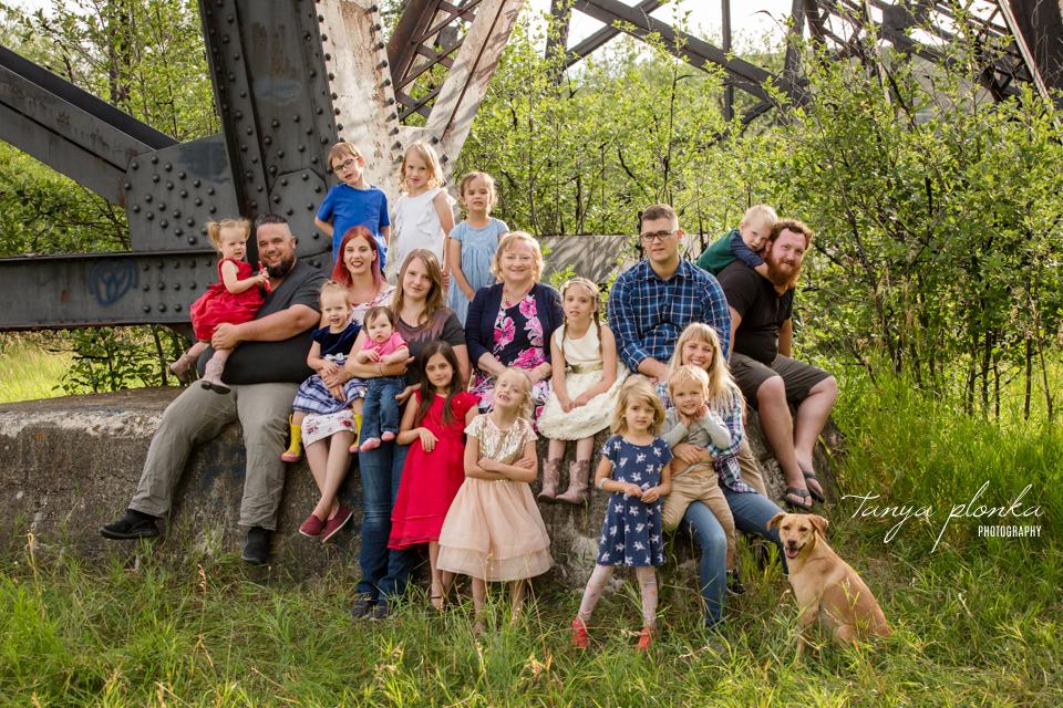 Birthday Celebration Extended Family Photos in Lethbridge