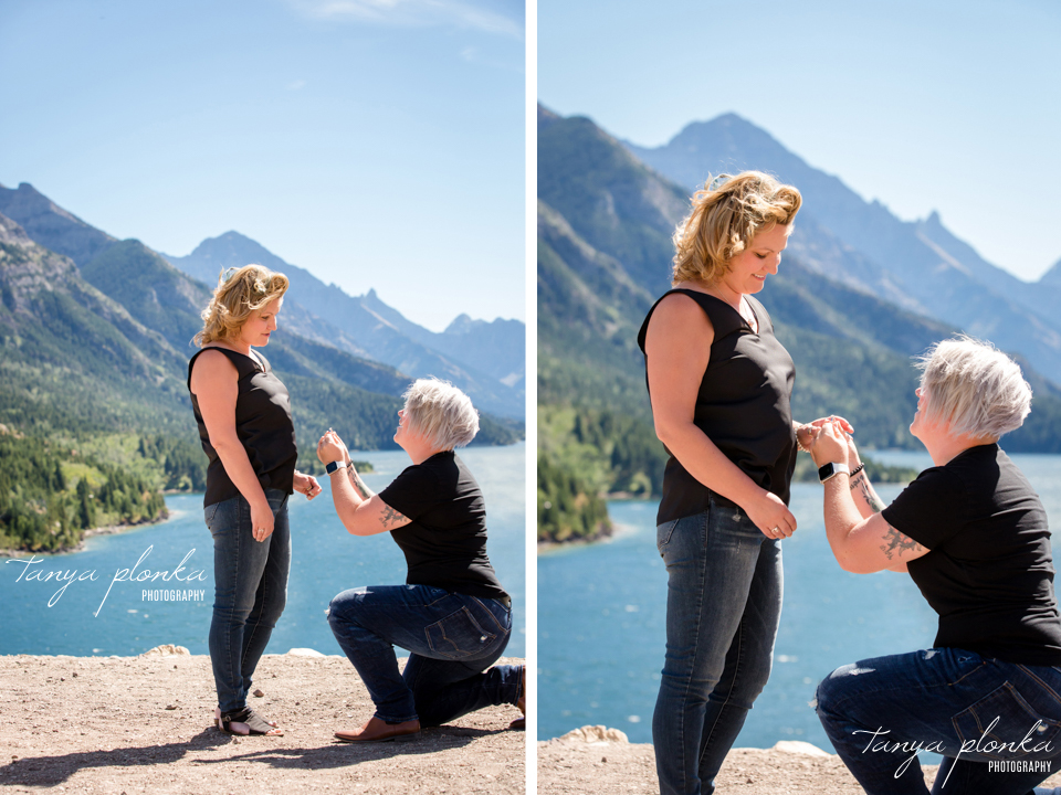 Waterton surprise proposal photography session