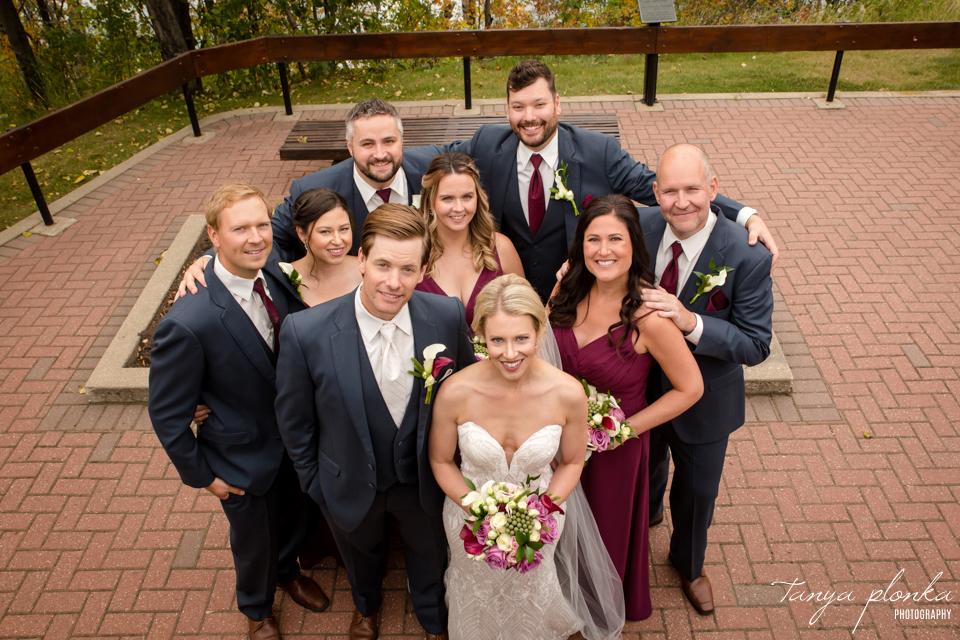 Francine & Clayton, Edmonton outdoor wedding party portraits